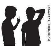vector silhouettes of teenagers ... | Shutterstock .eps vector #621899894