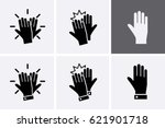 High Five Icon Set. Vector...