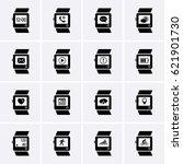smart watch icons. vector | Shutterstock .eps vector #621901730