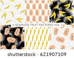 a set of six seamless repeat...   Shutterstock .eps vector #621907109
