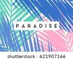 typographic summer design with...   Shutterstock .eps vector #621907166