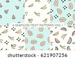 a set of six seamless repeat...   Shutterstock .eps vector #621907256