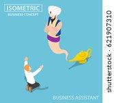 flat 3d isometric businessman...   Shutterstock .eps vector #621907310