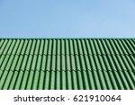 Green Roof Of Slate. Backgroun...