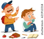 bullying vector cartoon... | Shutterstock .eps vector #621912218