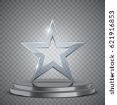 glass award in the form of star ... | Shutterstock .eps vector #621916853