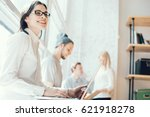 young business team working in... | Shutterstock . vector #621918278