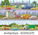 modern urban traffic horizontal