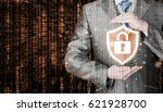 data protection and insurance.... | Shutterstock . vector #621928700
