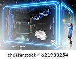 woman doctor in futuristic... | Shutterstock . vector #621933254