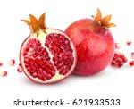Pomegranate Isolated. Whole...