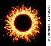 fire ring in the dark  | Shutterstock . vector #621935084