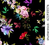 seamless floral background... | Shutterstock .eps vector #621935576