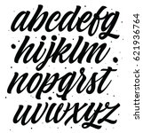 vector alphabet. exclusive... | Shutterstock .eps vector #621936764