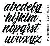brush style modern cursive font.... | Shutterstock .eps vector #621936764