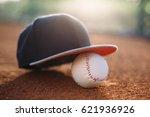 Baseball Cap And Baseball Ball...