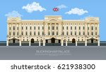 england buckingham palace with... | Shutterstock .eps vector #621938300