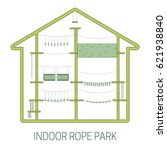 indoor rope park.  vector...   Shutterstock .eps vector #621938840