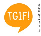 tgif or thank god it's friday.... | Shutterstock .eps vector #621939164