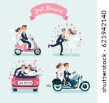 vector cartoon funny set of... | Shutterstock .eps vector #621942140