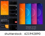 colorful mobile task manager ui ...