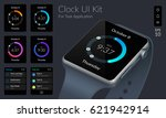 clock ui design concept with...