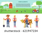 farming infographic elements... | Shutterstock .eps vector #621947234