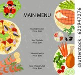 main restaurant menu template... | Shutterstock .eps vector #621947276