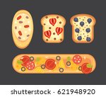 set toasts and sandwich... | Shutterstock .eps vector #621948920