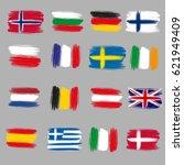 Brushstroke European Flags ...