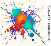 colorful paint splats vector...   Shutterstock .eps vector #62194942