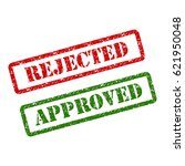 approved stamp green and... | Shutterstock .eps vector #621950048