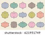 vector set of vintage frames on ... | Shutterstock .eps vector #621951749