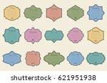 vector set of vintage frames on ... | Shutterstock .eps vector #621951938