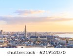 view over antwerp with... | Shutterstock . vector #621952070