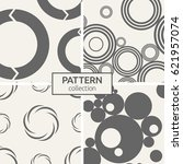 set of four seamless patterns.... | Shutterstock .eps vector #621957074