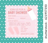 happy birthday  baby shower for ... | Shutterstock .eps vector #621957350