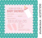 happy birthday  baby shower for ... | Shutterstock .eps vector #621957350
