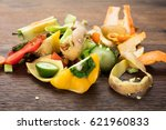 waste based cooking. elevated... | Shutterstock . vector #621960833
