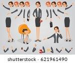 businesswoman character... | Shutterstock .eps vector #621961490
