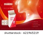 template design branding... | Shutterstock .eps vector #621965219