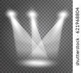 vector white spotlight effect... | Shutterstock .eps vector #621968804