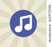 music note icon. sign design.... | Shutterstock .eps vector #621972944