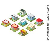building 3d icon design vector | Shutterstock .eps vector #621976346
