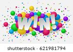 banner with paper white letters ... | Shutterstock .eps vector #621981794