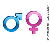 male and female sign. vector.... | Shutterstock .eps vector #621983384