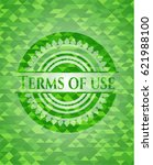 terms of use green emblem with...