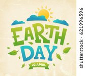 earth day banner  22nd april ... | Shutterstock .eps vector #621996596