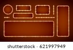 red gold colored vector retro... | Shutterstock .eps vector #621997949