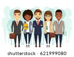 team of different young people. ... | Shutterstock .eps vector #621999080